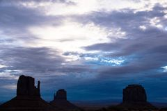 Sonnenaufgang-Monument-Tal Stockbild