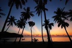 Sonnenaufgang in MU Ko Angthong Island.#4 Stockbild