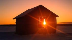 Sonnenaufgang auf der Landschaft Lizenzfreie Stockfotografie