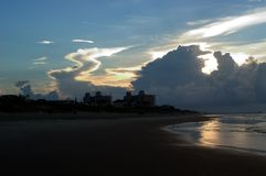 Sonnenaufgang Nord-Carolina in den äußeren Banken   lizenzfreie stockbilder