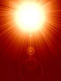 Sonnenaufgang oder Sonnenuntergang Lizenzfreies Stockbild