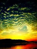 Sonnenaufgang oder Sonnenuntergang Lizenzfreies Stockfoto