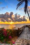 Sonnenaufgang in Ozean Stockbilder