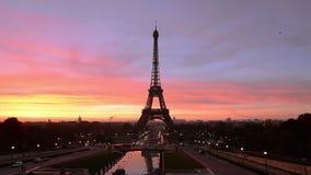 Sonnenaufgang in Paris stock footage