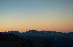 Sonnenaufgang in Pic de Rochebrune Lizenzfreies Stockfoto