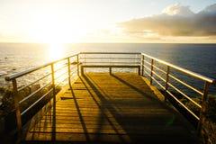 Sonnenaufgang-Pier Stockfoto