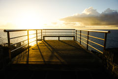 Sonnenaufgang-Pier Lizenzfreie Stockfotos