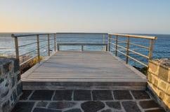 Sonnenaufgang-Pier Stockfotos