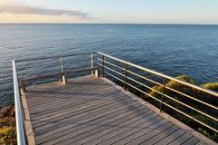 Sonnenaufgang-Pier Stockfotografie