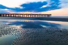 Sonnenaufgang-Pier Lizenzfreies Stockfoto