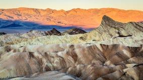 Sonnenaufgang in Punkt Death Valley Zabriskie Stockfotografie