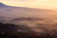Sonnenaufgang Punthuk Setumbu Stockfotografie
