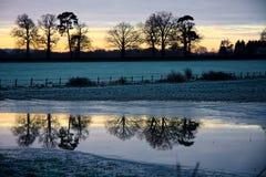Sonnenaufgang-Reflexion Stockfotos