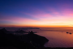Sonnenaufgang in Rio de Janeiro, Brasilien Lizenzfreie Stockfotografie