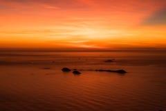Sonnenaufgang in Rio de Janeiro, Brasilien Lizenzfreies Stockfoto