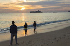Sonnenaufgang-Ritual Lizenzfreie Stockfotos