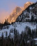 Sonnenaufgang in Rocky Mountain National Park stockbilder