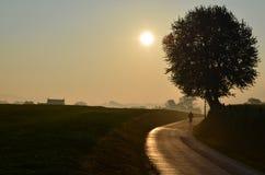 Sonnenaufgang in Süd-Limburg Lizenzfreies Stockfoto