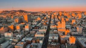 Sonnenaufgang in San Francisco stock video footage
