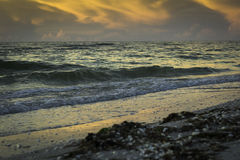Sonnenaufgang in Sanibel-Insel Stockfotos