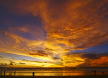 Sonnenaufgang am sanur stockfoto