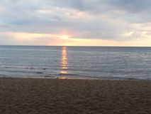 Sonnenaufgang in Sanur Stockfoto