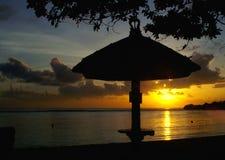 Sonnenaufgang-Schattenbild Stockfotografie