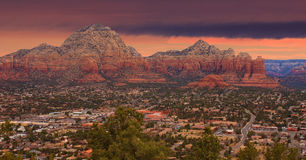 Sonnenaufgang Sedona Arizona Stockbild