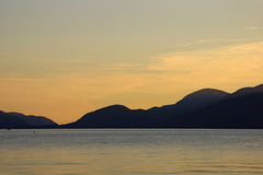 Sonnenaufgang in See George Stockbild