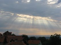 Sonnenaufgang in Serbien Stockfotos