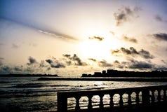 Sonnenaufgang in Seychellen-Inseln stockfotos