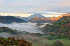 Sonnenaufgang in Snowdonia Stockbild
