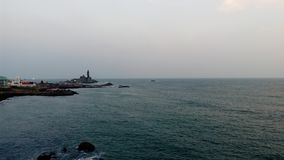 Sonnenaufgang, Sonnenuntergang, Kap comorin, Kanyakumari, Tamilnadu Stockbilder
