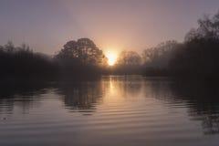 Sonnenaufgang-Southampton-Common Stockfoto