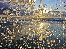 Sonnenaufgang-Spritzen Lizenzfreie Stockfotos