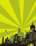 Sonnenaufgang-Stadt-Hintergrund-Serie Lizenzfreie Stockfotografie