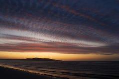 Sonnenaufgang am Strand Stockfotografie