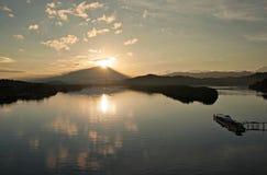 Sonnenaufgang an Sulaman-Brücke Lizenzfreie Stockfotos