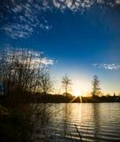 Sonnenaufgang in Tergnier - Frankreich Lizenzfreie Stockfotografie
