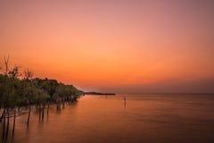 Sonnenaufgang am thailändischen Golf Stockfotos