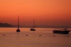 Sonnenaufgang, Turunc die Türkei Stockfotos