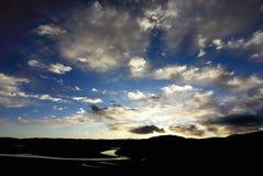 Sonnenaufgang u. Sonnenuntergang Lizenzfreie Stockfotos
