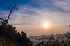 Sonnenaufgang und deadtree Lizenzfreies Stockbild