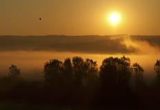 Sonnenaufgang und Nebel Lizenzfreies Stockbild
