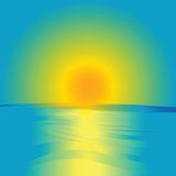 Sonnenaufgang und Ozean Lizenzfreie Stockfotos