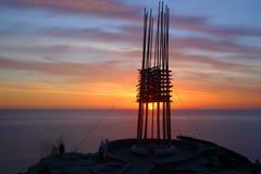 Sonnenaufgang und retten unsere Seelen Lizenzfreies Stockfoto