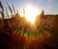 Sonnenaufgang- und Sonnenuntergangzusammenfassung Lizenzfreies Stockfoto