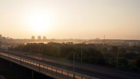 Sonnenaufgang unter der Stadt Lizenzfreies Stockbild