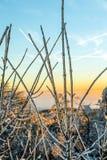 Sonnenaufgang unter der Winterruheberglandschaft mit schönem Lizenzfreie Stockbilder