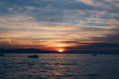 Sonnenaufgang in Venedig Stockfotos